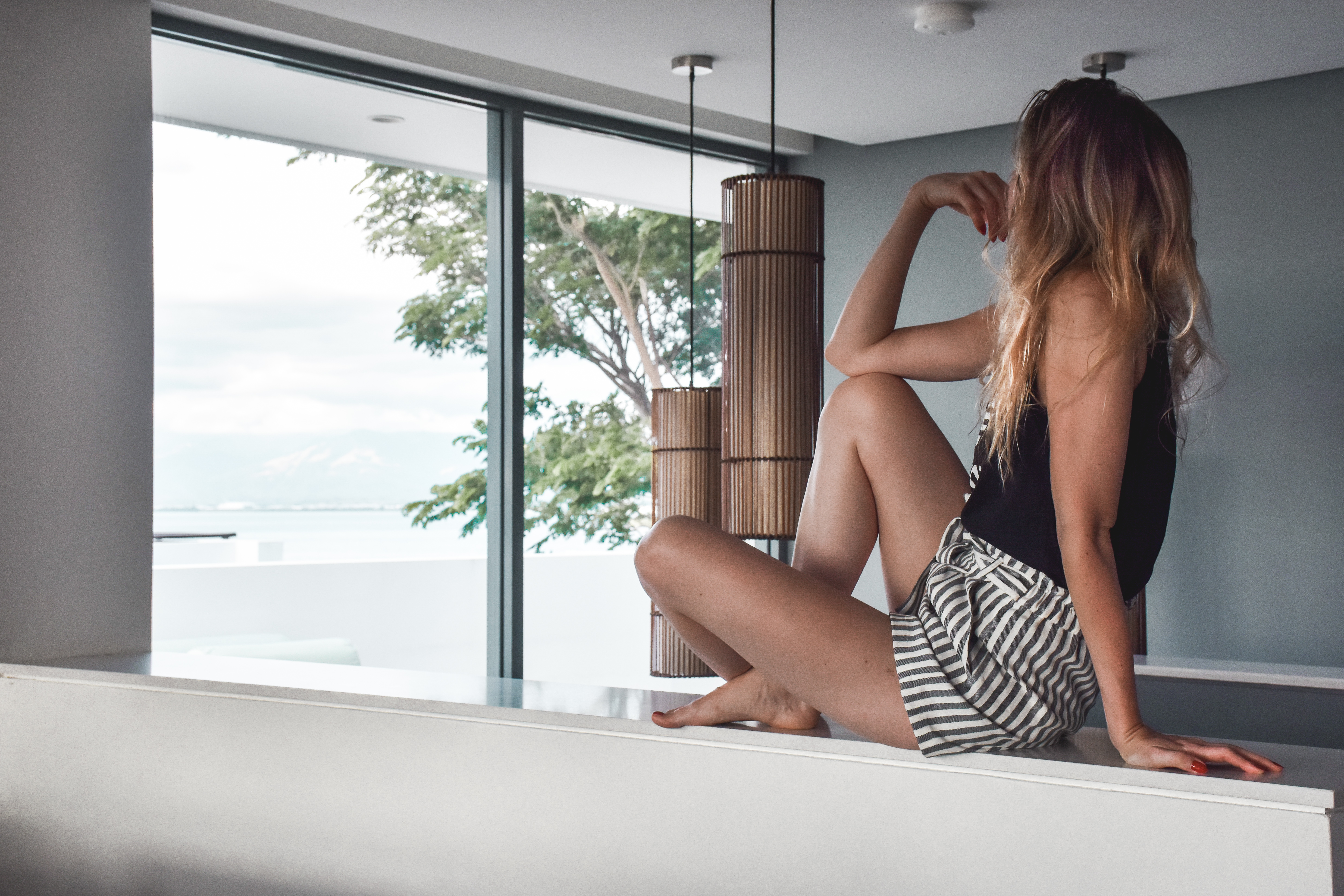 Enjoying the amazing views from our spacious apartment - Hilton Fiji Beach Resort and Spa